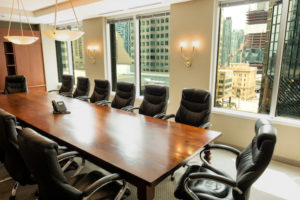 Monkhouse Law Toronto Employment Lawyers Boardroom
